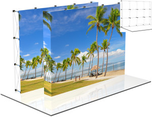 Pop-Up Fabric Displays