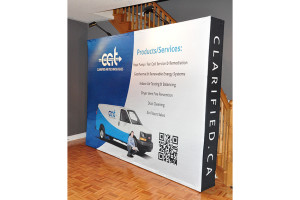 10Ft Pop-Up Fabric Displays