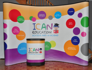 iCan Education Pop-Up Display